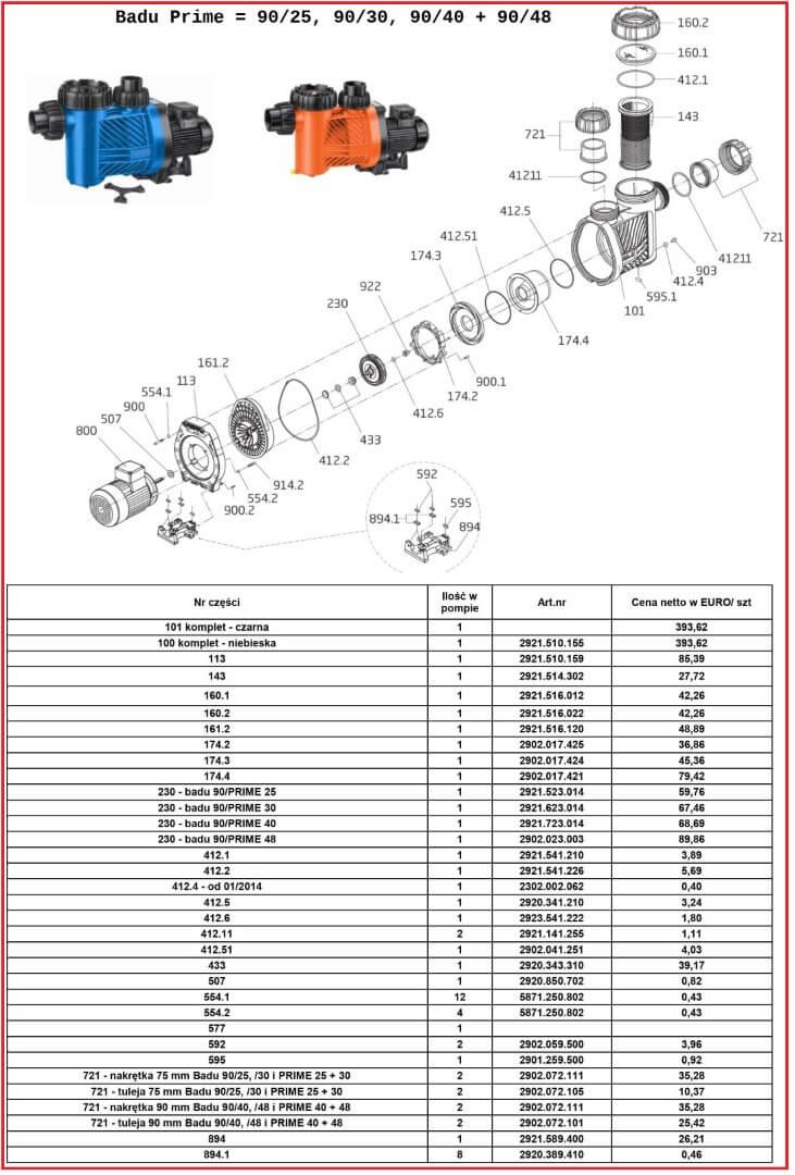 Speck Badu Prime 90-7 90-11 90-13 90-15 90-15G 90-20 90-20G czesci zamienne
